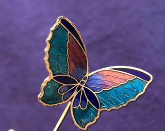 Iridescent Butterfly Lapel Pin