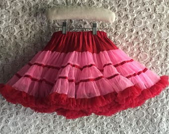 FREE S&H - PETTISKIRT, Pink/Red