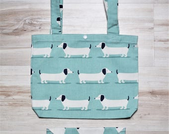 Duo purse and clutch dachshunds