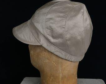 SWIRL CAP - Nacre/Mother of Pearl Silk Dupioni