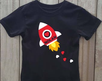 Rocket valentine shirt, rocket shirt, Boys valentine shirt, valentines day shirt, valentines shirt, toddler valentine shirt, space ship