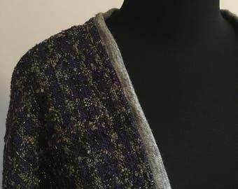 Purple/Grey Wool cardigan