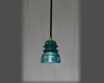 Vintage Glass Insulator Pendant Light