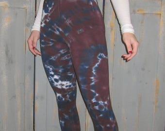 Yoga Leggings, Tie Dye Leggings, Bohemian, Festival Wear, Earthy