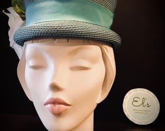 Vintage Straw Cloche Styled Hat