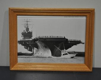 Framed Wall Street Journal Print of Aircraft Carrier