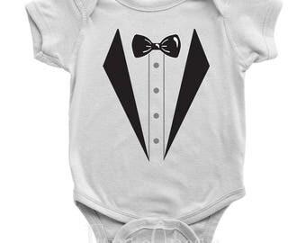 Sharp Dressed Baby - Tuxedo Onesie