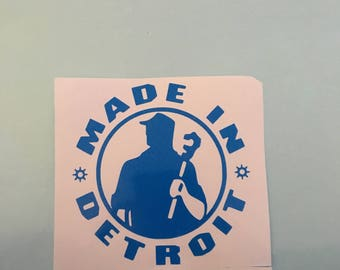 Made In Detroit Decal