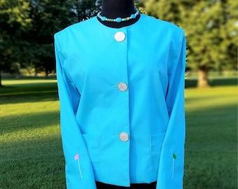 Women's Golf Jacket-Sky Blue