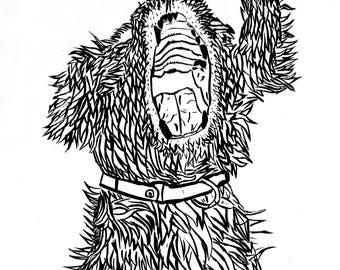 Digital Print of Dog