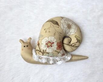 Tilda Snail Vintage Home Decor Linen Decorative Toy Interior Decoration