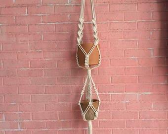 Macrame Double Plant Hanging