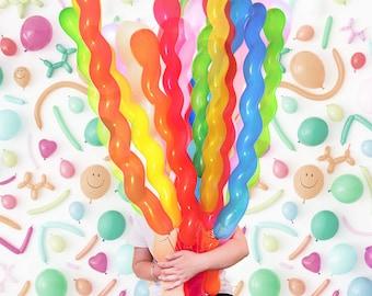"40"" Spiral Latex Balloons"