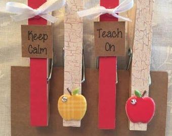 Clothespin Magnets- Teacher