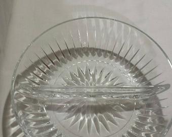 Vintage Crystal Relish Dish
