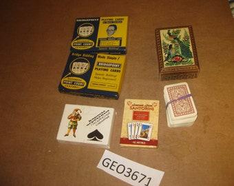 Assorted Playing Card Decks    [geo3671bt]