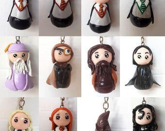 Harry Potter Inspired Polymer Clay keychain