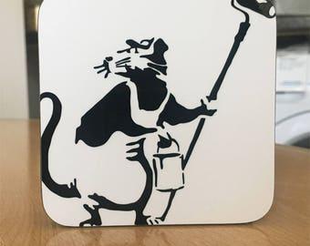 Banksy Coaster #16 - Banksy Gift - Banksy Coaster - Custom Coaster -Gift for Her - Gift For Him - Fridge Magnets - Banksy Magnet - Souvenir