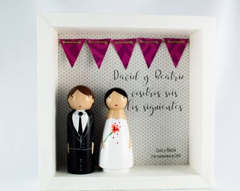 Bride and groom message box