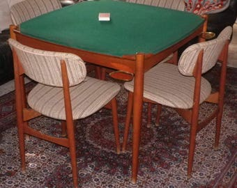 Gio Ponti Table Chair Poker Mid Century Italian Style Design 60s 50s  Furniture Game Card Antique