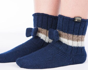 Hand Knit socks  Wool knit socks  Knitted socks  Knit wool socks  Birthday gift for women  Winter knit socks Knitted slippers