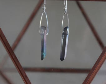 Titanium coated crystal earrings