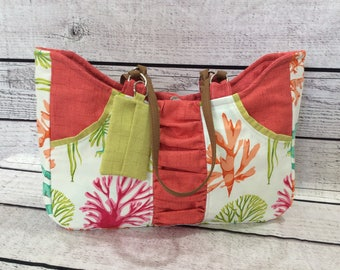 Canvas Handbag - Tropical Corrals
