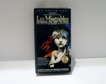 Les Miserables Musical 10th Anniversary, 90s VHS Movie, French Muscial, VHS Tape, les misérables, Victor Hugo, Fantine,  Les Mis, Music VHS