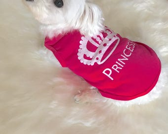 Princess T-Shirt - Designer Dog Wear - Dog Apparel - Shirts for Puppies and Small Dogs
