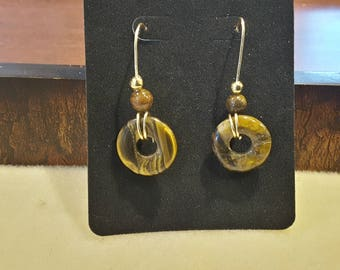Tigers eye earrins