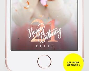 Snapchat Filter Birthday, Birthday Geofilter, Birthday Snapchat Filter, Birthday Snapchat, Birthday, Snapchat Filter, 21st Birthday Filter