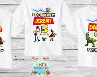 Toy Story Family Birthday Shirt, Toy Story Custom Shirt, Personalized Toy story Shirt,Toy Story family shirts, Birthday t-shirts d26