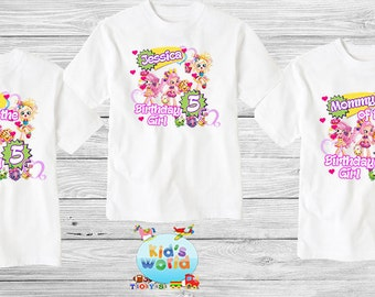Shopkins Family birthday shirt, Custom shirt ,personalized shopkins  Shirt , family shirt,birthday shirt,kids custom birthday shirt d5