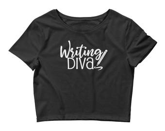 Writing Diva Women's Journalism Women's Crop Tee