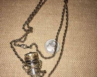 Vintage Necklace Perfume Oil Holder