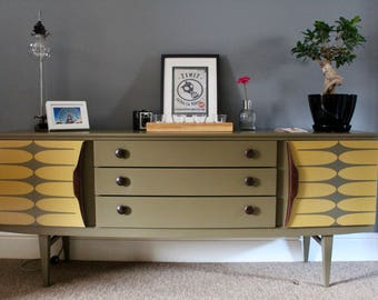 Up Cycled Mid Century Sideboard