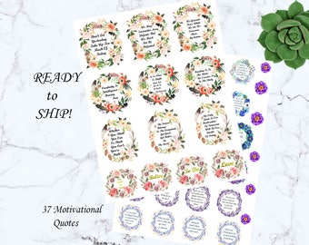 Motivational quotes planner stickers floral stickers flower stickers eclp stickers motivation stickers cute stickers planner accessories art