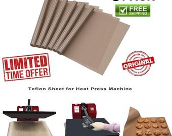 3 Pack Teflon Sheet For 16 x 20 Heat Press Transfer Sheet Non Stick Reusable Mat