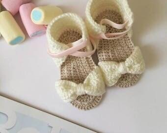 Baby Sandals, Baby Booties, Crochet Sandals