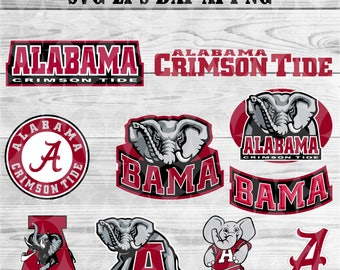 Alabama university svg,team,logo,svg,png,eps,dxf,cricut,silhouette,collegiate,ncaa,banner,shirt,Crimson tide svg,decal,vinyl,football svg