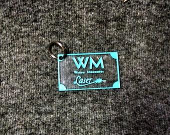 Custom Engraved Acrylic or Wood Keychain