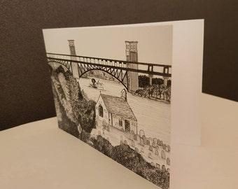 Menai, Anglesey Greetings Card