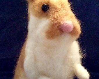 Wool needle felted bunny