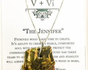 The Jennifer Petrified Wood Healing Necklace