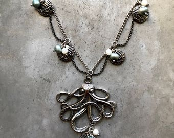 20 inch Victorian/Steampunk Style Octopus Necklace