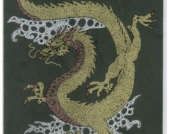 Japanese Dragon Print