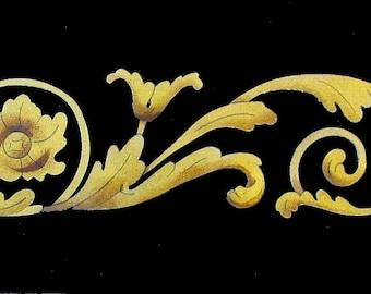 "3""h Renaissance Scroll Stencil"
