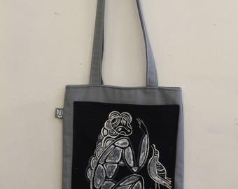 Summer bag Gray bag Handmade bag