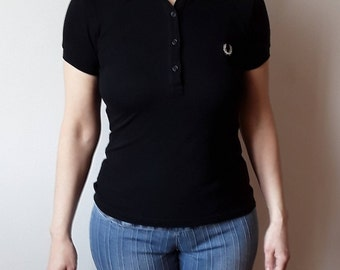 Fred Perry Black T- shirt Size XS