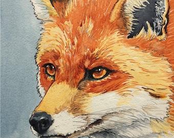 Winter Fox Greetings card